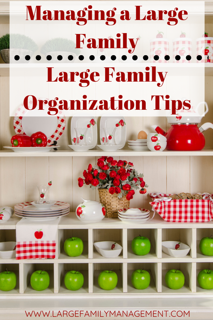 Mother of NINE details the how she manages her large family. Large Family Organization. Managing a Large Family.